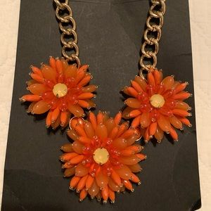 Banana Republic Orange Dahlia Necklace
